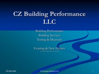 CZ Building Performance LLC