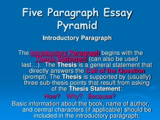 Five Paragraph Essay Pyramid