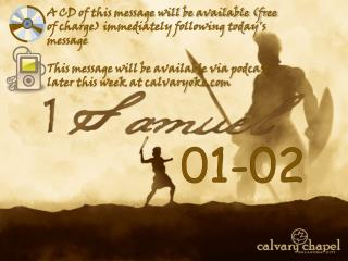 A CD of this message will be available free of charge immediately following todays message  This message will be availab