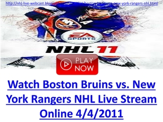 TV TV TV TV Boston Bruins vs New York Rangers Live Online So
