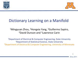 Dictionary Learning on a Manifold