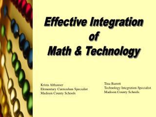 Tina Barrett Technology Integration Specialist Madison County Schools