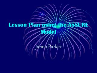 Lesson Plan using the ASSURE Model