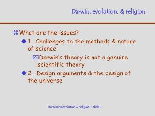 Darwin, evolution,  religion