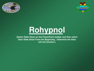 Rohypnol Select Slide Show on the PowerPoint toolbar and then select Start Slide Show From the Beginning.  Otherwise the