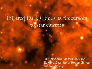Infrared Dark Clouds as precursors to star clusters