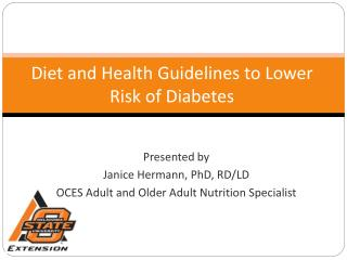 Diet and Health Guidelines to Lower Risk of Diabetes