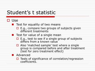 Student s t statistic