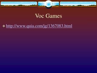 Voc Games