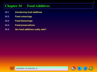 Chapter 34 Food Additives