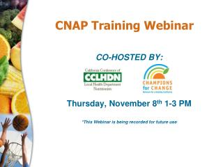 CNAP Training Webinar