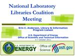National Laboratory Libraries Coalition Meeting