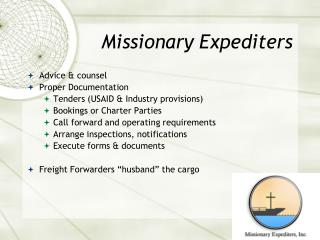 Missionary Expediters