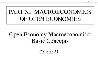 Chapter 29 Open economy macroeconomics