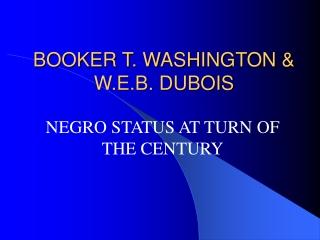 W.E.B. DuBois The Souls of Black Folk 1903