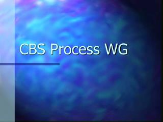 CBS Process WG
