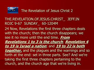 The Revelation of Jesus Christ 2