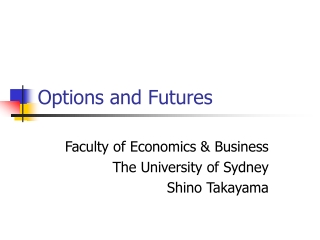 Introduction to forward, futures,  options