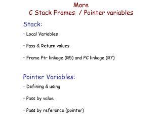 More C Stack Frames