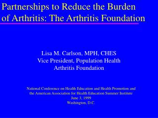 Partnerships to Reduce the Burden