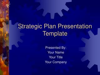Strategic Plan Presentation Template