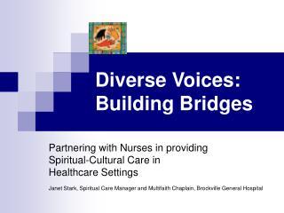 Diverse Voices: Building Bridges
