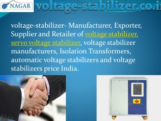 servo voltage stabilizer manufacturer delhi ncr