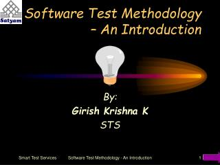 Software Test Methodology   An Introduction