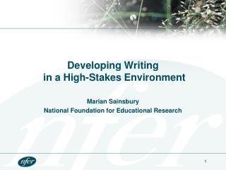 Developing Writing  in a High-Stakes Environment