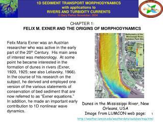 CHAPTER 1: FELIX M. EXNER AND THE ORIGINS OF MORPHODYNAMICS