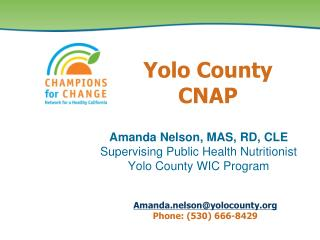 Yolo County CNAP