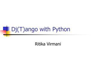 DjTango with Python