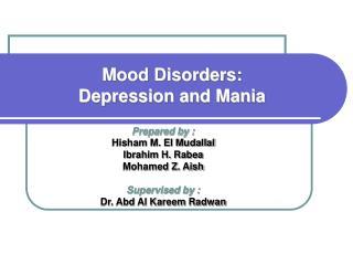 Prepared by : Hisham M. El Mudallal Ibrahim H. Rabea Mohamed Z. Aish  Supervised by : Dr. Abd Al Kareem Radwan