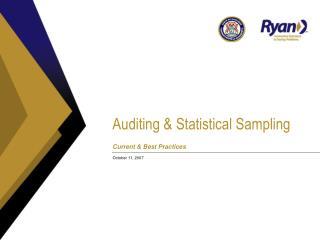 Auditing  Statistical Sampling