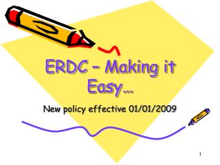 ERDC   Making it Easy
