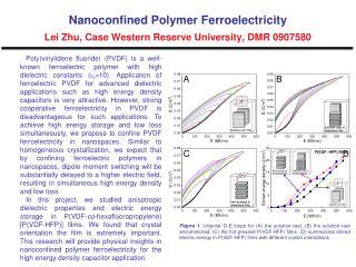 Nanoconfined Polymer Ferroelectricity  Lei Zhu, Case Western Reserve University, DMR 0907580