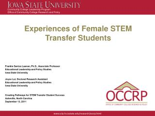 Experiences of Female STEM  Transfer Students