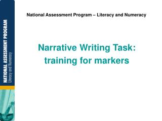 National Assessment Program   Literacy and Numeracy