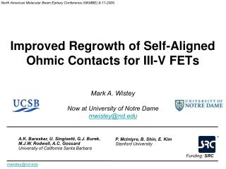 Improved Regrowth of Self-Aligned Ohmic Contacts for III-V FETs