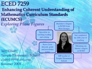 ECED 7259  Enhancing Coherent Understanding of Mathematics Curriculum Standards ECUMCS Exploring Plane Figures