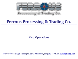 Ferrous Processing & Trading Co. Yard Operations
