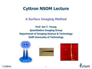 Cyttron NSOM Lecture  A Surface Imaging Method  Prof. Ian T. Young Quantitative Imaging Group Department of Imaging Scie