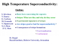 High Temperature Superconductivity:
