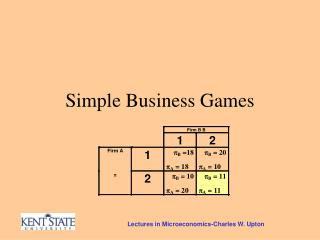 Simple Business Games