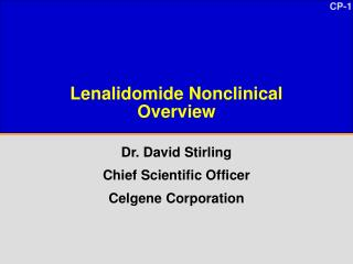 Lenalidomide Nonclinical  Overview