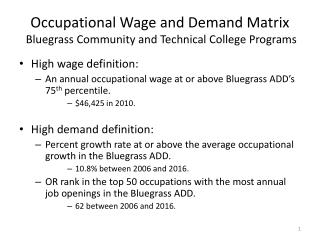 Occupational Wage and Demand Matrix  Bluegrass Community and Technical College Programs