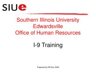 Southern Illinois University Edwardsville Office of Human Resources