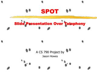 SPOT  Slide Presentation Over Telephony