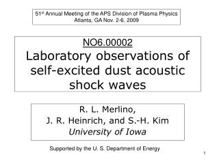 NO6.00002 Laboratory observations of self-excited dust acoustic shock waves