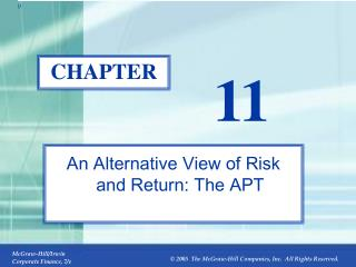 An Alternative View of Risk and Return: The APT